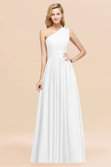 Stylish One-shoulder Sleeveless Long Junior Bridesmaid Dresses Affordable_1