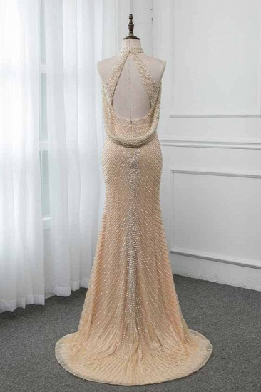 BMbridal Sparkly Crystals High-Neck Prom Dresses with Front Slit Online_3