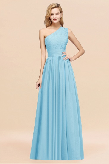 BMbridal Stylish One-shoulder Sleeveless Long Junior Bridesmaid Dresses Affordable_23