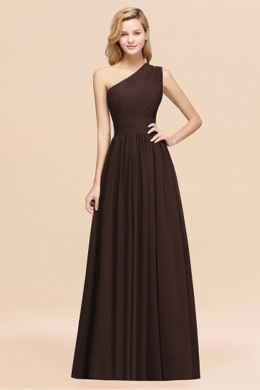BMbridal Stylish One-shoulder Sleeveless Long Junior Bridesmaid Dresses Affordable_11