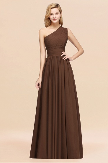 BMbridal Stylish One-shoulder Sleeveless Long Junior Bridesmaid Dresses Affordable_12