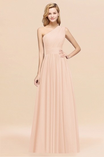 Stylish One-shoulder Sleeveless Long Junior Bridesmaid Dresses Cheap_5