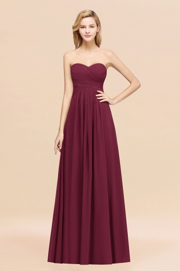 Vintage Sweetheart Long Grape Affordable Bridesmaid Dresses Online_44