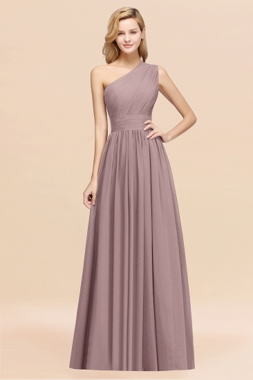 BMbridal Stylish One-shoulder Sleeveless Long Junior Bridesmaid Dresses Affordable_37