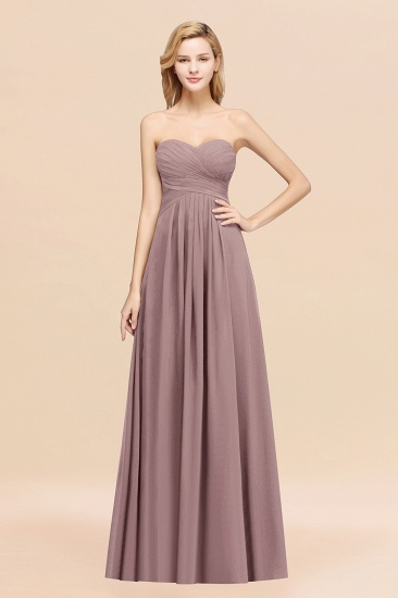 Vintage Sweetheart Long Grape Affordable Bridesmaid Dresses Online_37