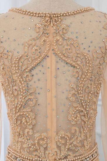 BMbridal Luxury Jewel Long Sleeves Mermaid Prom Dresses with Rhinestone Appliques Online_6