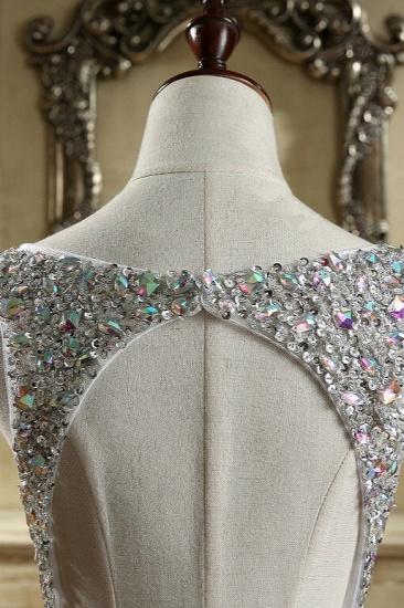 BMbridal Glamorous Straps V-Neck Tulle Beadings Prom Dresses Sleeveless Mermaid Crystals Formal Dresses Online_5