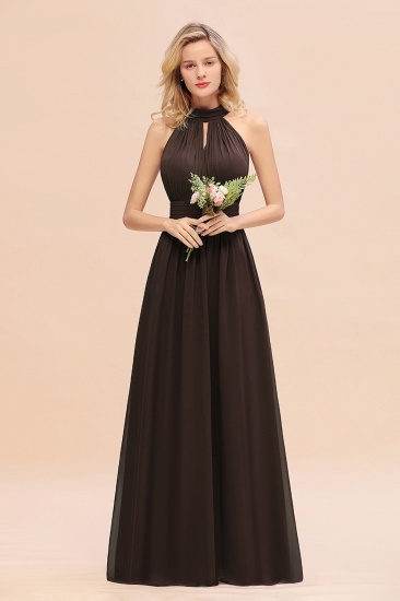 Glamorous High-Neck Halter Bridesmaid Affordable Dresses with Ruffle_11
