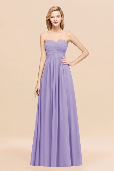 Vintage Sweetheart Long Grape Affordable Bridesmaid Dresses Online_21