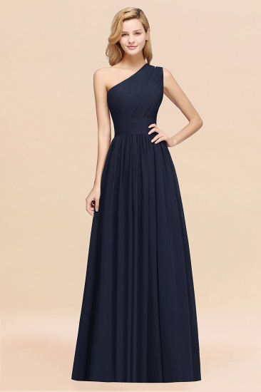 BMbridal Stylish One-shoulder Sleeveless Long Junior Bridesmaid Dresses Affordable_28
