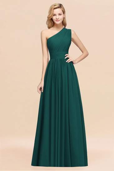BMbridal Stylish One-shoulder Sleeveless Long Junior Bridesmaid Dresses Affordable_33