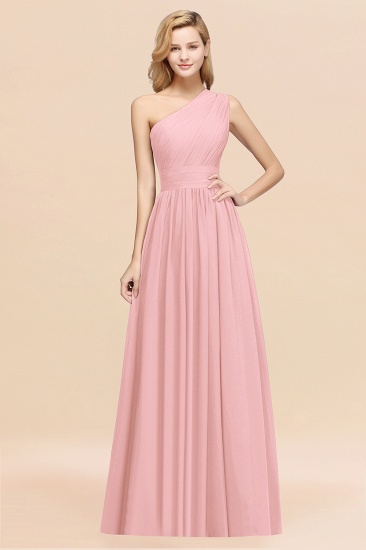 Stylish One-shoulder Sleeveless Long Junior Bridesmaid Dresses Affordable_4