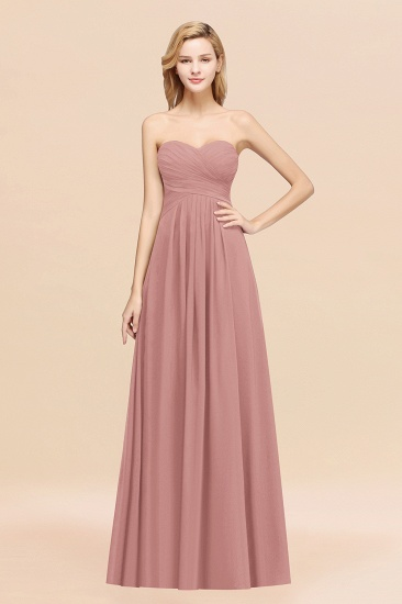 Vintage Sweetheart Long Grape Affordable Bridesmaid Dresses Online_50