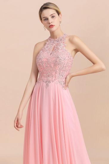 BMbridal A-line Chiffon Lace Ruffles Bridesmaid Dress with Beadings_8