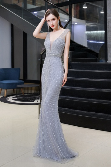 Luxurious Beadings Mermaid Prom Dress Long Mermaid Evening Gowns On Sale_5