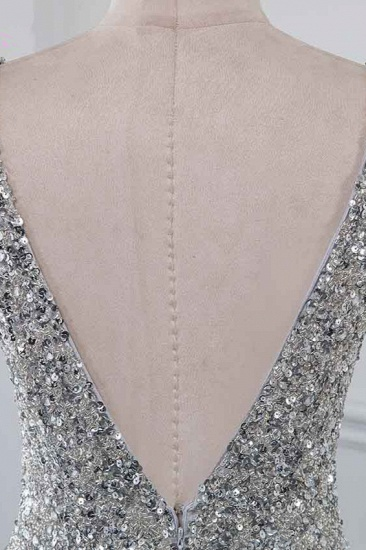 Chic V-Neck Sleeveless Mermaid Prom Dresses with Beadings Top_6