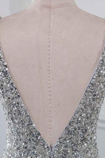 BMbridal Chic V-Neck Sleeveless Mermaid Prom Dresses with Beadings Top_6