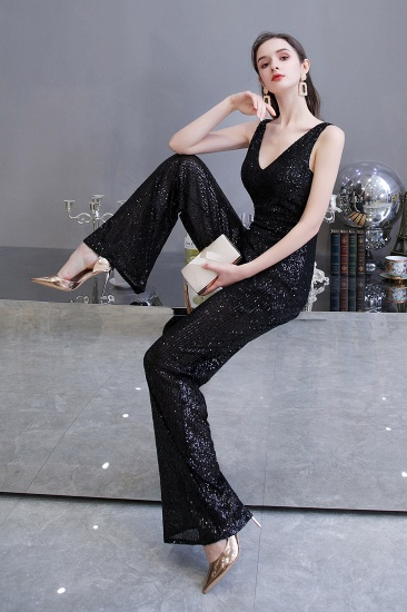 Stunning Sequins V-Neck Sleeveless Jumpsuit Event Party Gowns On Sale_16