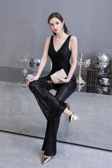 Stunning Sequins V-Neck Sleeveless Jumpsuit Event Party Gowns On Sale_17
