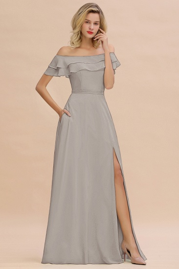 Exquisite Off-the-shoulder Slit Mint Green Bridesmaid Dress With Pockets_30