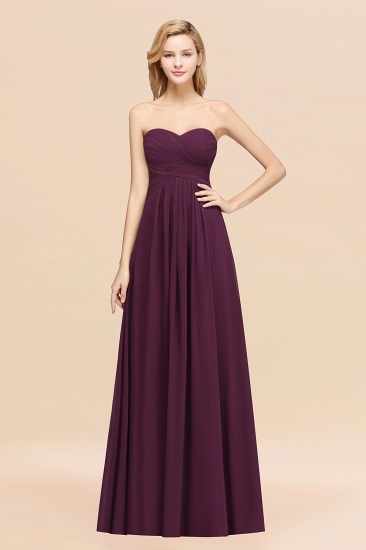 BMbridal Vintage Sweetheart Long Grape Affordable Bridesmaid Dresses Online_20