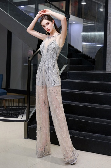 BMbridal Glamorous Jewel Sleeveless Tulle Evening Jumpsuit with Sequins_5