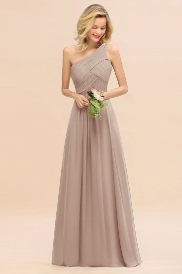 Chic One Shoulder Ruffle Grape Chiffon Bridesmaid Dresses Online_16