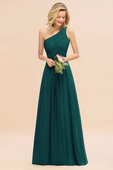 Chic One Shoulder Ruffle Grape Chiffon Bridesmaid Dresses Online_33