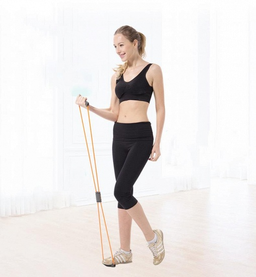 BMbridal 5 Pcs Indoor Fitness Portable Latex Figure 8 Tension Rope Figure Eight Puller Yoga_5