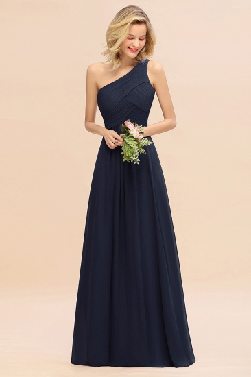 Chic One Shoulder Ruffle Grape Chiffon Bridesmaid Dresses Online_28
