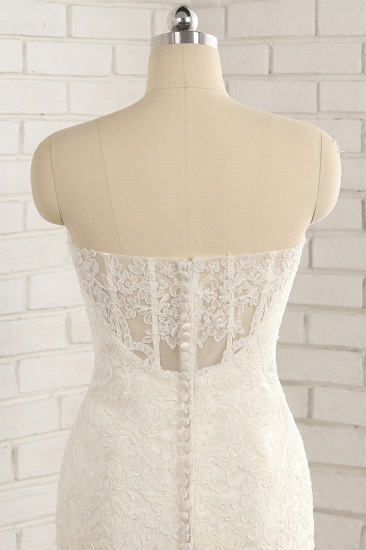 BMbridal Gorgeous Strapless Sleeveless Lace Tulle Wedding Dress Sweetheart Appliques Mermaid Bridal Gowns Online_5