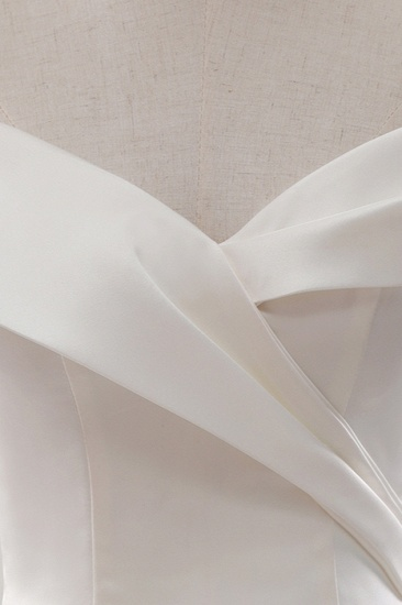 BMbridal Glamorous White Satin Ruffles Wedding Dresses Off-the-shoulder A-line Bridal Gowns Online_5