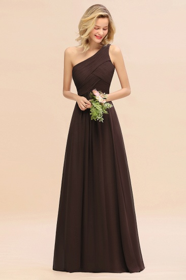 Chic One Shoulder Ruffle Grape Chiffon Bridesmaid Dresses Online_11