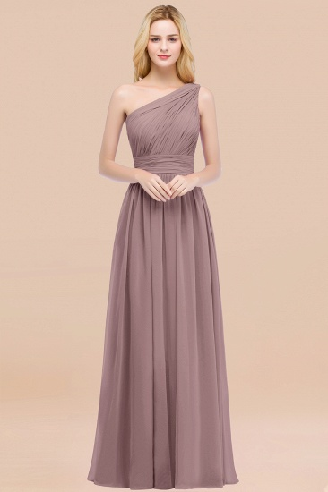 Chic One-shoulder Sleeveless Burgundy Chiffon Bridesmaid Dresses Online_37
