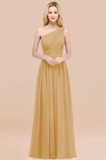 Chic One-shoulder Sleeveless Burgundy Chiffon Bridesmaid Dresses Online_13