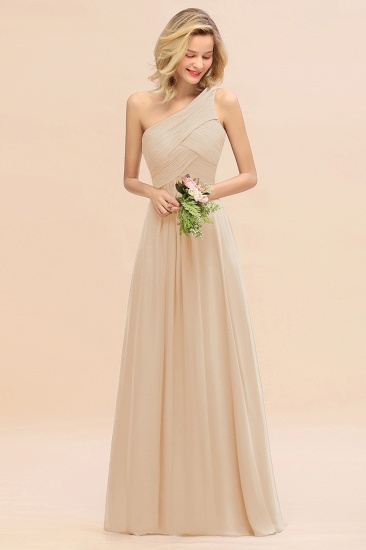 Chic One Shoulder Ruffle Grape Chiffon Bridesmaid Dresses Online_14