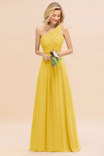 Chic One Shoulder Ruffle Grape Chiffon Bridesmaid Dresses Online_17