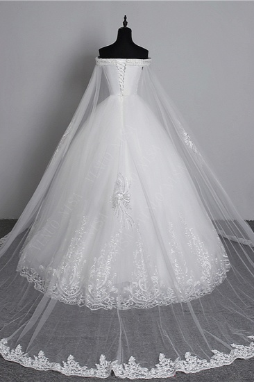 BMbridal Glamorous Strapless Sweetheart Tulle Wedding Dress Sleeveless Appliques Bridal Gowns with Rhinestones On Sale_3