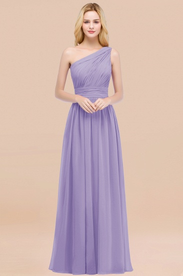 Chic One-shoulder Sleeveless Burgundy Chiffon Bridesmaid Dresses Online_21