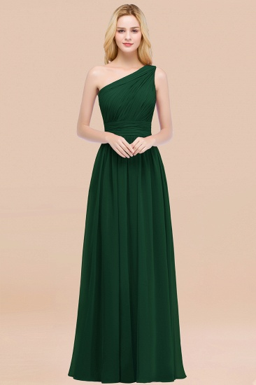 Chic One-shoulder Sleeveless Burgundy Chiffon Bridesmaid Dresses Online_31