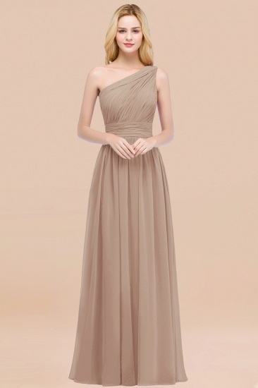 Chic One-shoulder Sleeveless Burgundy Chiffon Bridesmaid Dresses Online_16
