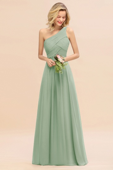 Chic One Shoulder Ruffle Grape Chiffon Bridesmaid Dresses Online_41