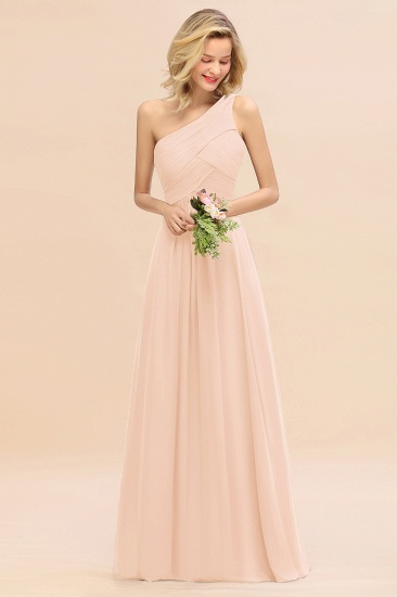Chic One Shoulder Ruffle Grape Chiffon Bridesmaid Dresses Online_5