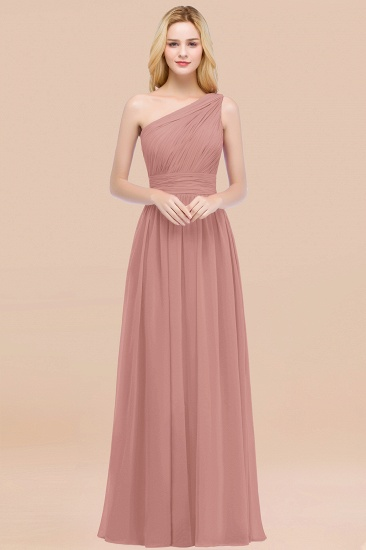 Chic One-shoulder Sleeveless Burgundy Chiffon Bridesmaid Dresses Online_50