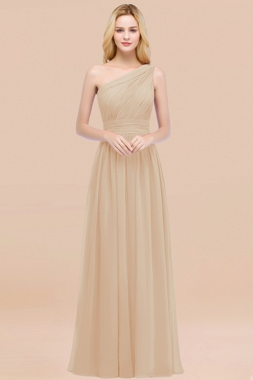 Chic One-shoulder Sleeveless Burgundy Chiffon Bridesmaid Dresses Online_14