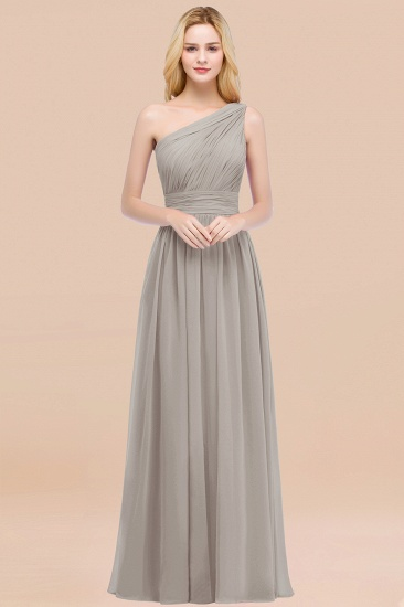 Chic One-shoulder Sleeveless Burgundy Chiffon Bridesmaid Dresses Online_30