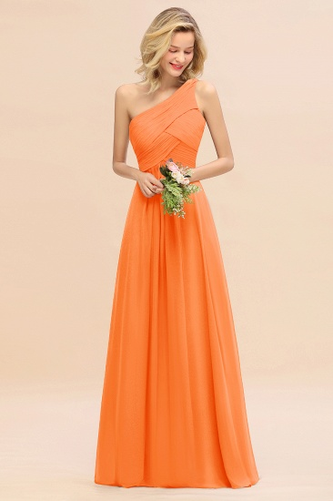 Chic One Shoulder Ruffle Grape Chiffon Bridesmaid Dresses Online_15