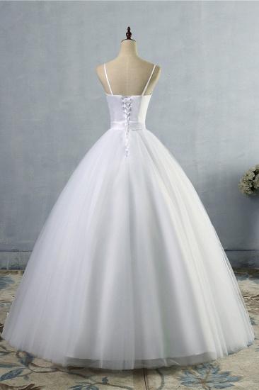 BMbridal Glamorous Spaghetti Straps Sweetheart Wedding Dresses White Sleeveless Bridal Gowns Online_3