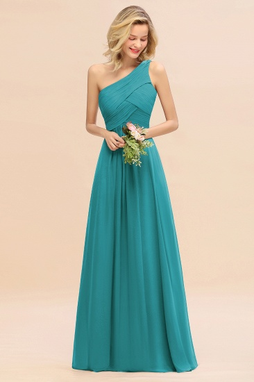Chic One Shoulder Ruffle Grape Chiffon Bridesmaid Dresses Online_32
