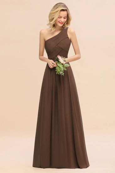 Chic One Shoulder Ruffle Grape Chiffon Bridesmaid Dresses Online_12